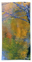 Reflecting Autumn Beach Towel by Mariarosa Rockefeller