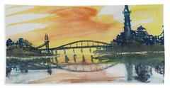 Reflecting Bridge Beach Towel