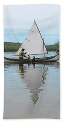 Reflecting On Sailing Beach Sheet