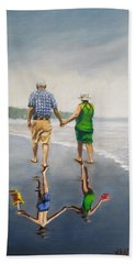 Reflecting On The Past  Beach Towel by Jason Marsh