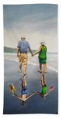 Reflecting Happiness Beach Sheet