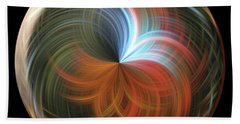 Reflecting Orb Beach Towel by Judy Wolinsky