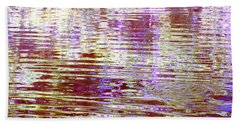 Reflecting Purple Water Beach Towel