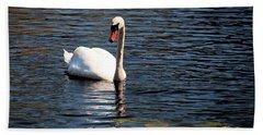 Reflecting Swan Beach Towel