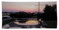 Reflection In Puddles Beach Sheet