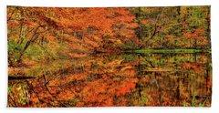 Reflection Of Autumn Beach Sheet by Midori Chan