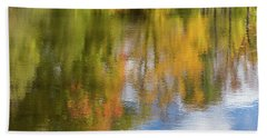 Reflection Of Fall #1, Abstract Beach Towel
