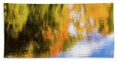 Reflection Of Fall #2, Abstract Beach Towel