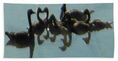 Reflection Of Geese Beach Sheet