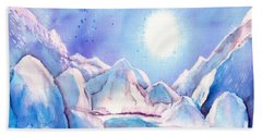 Winter - Reflection Of The Moon Beach Towel