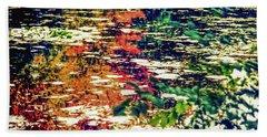 Reflection On Oscar - Claude Monet's  Garden Pond  Beach Sheet