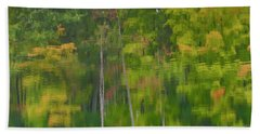 Beach Towel featuring the photograph Reflection On Muskrat Pond by Gary Hall