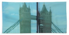 Reflection Tower Bridge Beach Towel