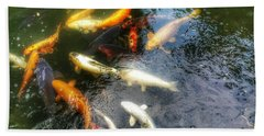 Reflections And Fish 5 Beach Towel by Isabella F Abbie Shores FRSA