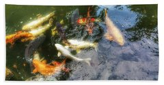 Reflections And Fish 6 Beach Towel by Isabella F Abbie Shores FRSA