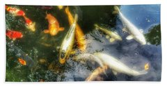 Reflections And Fish 7 Beach Towel by Isabella F Abbie Shores FRSA