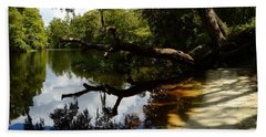 Reflections And Shadows Beach Sheet by Warren Thompson