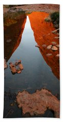 Beach Towel featuring the photograph Reflections At Kata Tjuta In The Northern Territory by Keiran Lusk