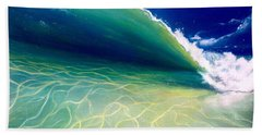 Beach Towel featuring the painting Reflections by Dawn Harrell