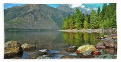 Reflections Glacier National Park  Beach Towel
