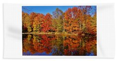 Reflections In Autumn Beach Sheet