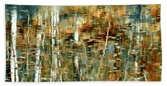 Beach Towel featuring the photograph Reflections In Teal by Ann Bridges