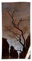 Reflections In Zion Beach Towel