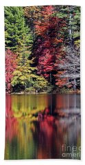 Reflections Of A Bare Tree Beach Towel
