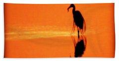 Reflections Of A Heron Beach Sheet