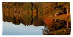 Beach Sheet featuring the painting Reflections Of A Pennsylvania Autumn by David Dehner