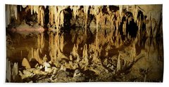 Beach Towel featuring the photograph Reflections Of Dream Lake At Luray Caverns by Paul Ward