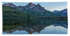 Reflections Of Elk Mountain Beach Towel by Brenda Jacobs
