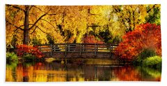 Reflections Of Fall Beach Towel by Kristal Kraft