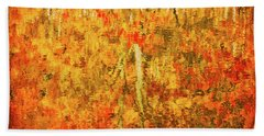 Beach Towel featuring the photograph Reflections Of Fall by Rick Furmanek