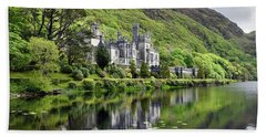 Reflections Of Kylemore Abbey Beach Towel