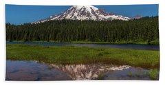 Reflections Of Mount Rainier Beach Towel