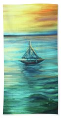 Reflections Of Peace Beach Sheet
