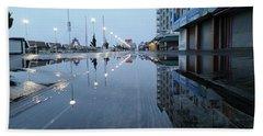 Reflections Of The Boardwalk Beach Towel