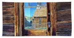 Reflections Of The Bodie Church Beach Towel