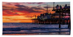 Reflections Of The Pier Beach Towel