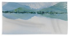 Reflections Of The Skies And Mountains Surrounding Bathurst Harbour Beach Towel