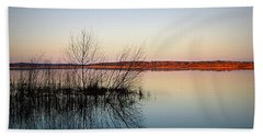 Reflections On Lake Jackson Tallahassee Beach Towel