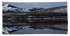 Reflections On Lake Mcdonald 3 Beach Towel