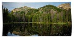 Reflections On Nymph Lake Beach Sheet