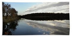 Beach Sheet featuring the photograph Reflections On The Lake by Chris Berry