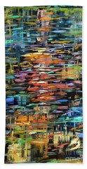 Reflections Rain Beach Towel by Linda Olsen