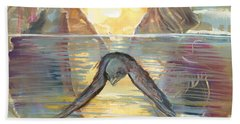 Reflections Swallowed Beach Towel