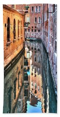 Reflections Venice Italy Beach Towel
