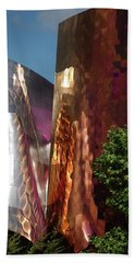 Reflective Buildings Beach Towel