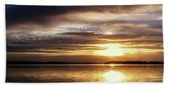 Reflective Sunset Beach Towel by Doug Long